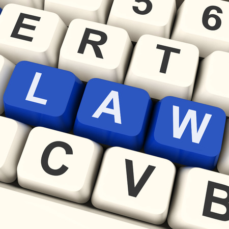 statute: Law Key Meaning Legally Statute Or Judicial  Stock Photo