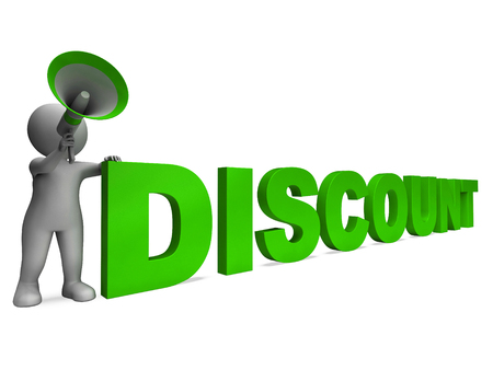 loud hailer: Discount Character Showing Sale Offer And Discounts