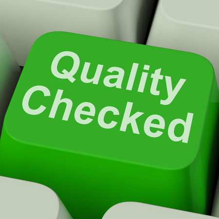 Quality Checked Key Showing Product Tested Ok Stock Photo - 26064043