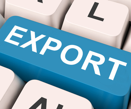 exported: Export Key On Keyboard Meaning Sell Overseas Or Trade