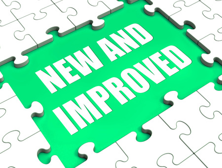 improved: New And Improved Puzzle Showing Improved And Upgraded