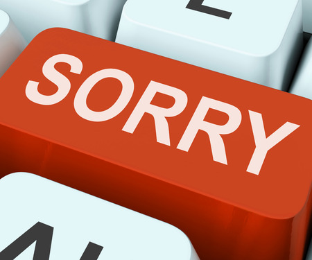 apology: Sorry Key Showing Online Apology Or Regret