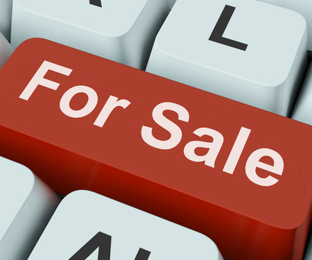 For Sale Key On Keyboard Meaning Purchasable Available To Buy Or On Offer  photo