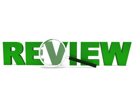 critic: Review Word Showing Assessment Evaluating Evaluates And Reviews Stock Photo