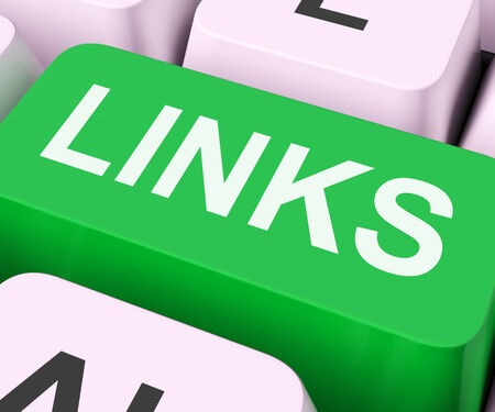 backlink: Links Key Showing Backinks Linking And Seo