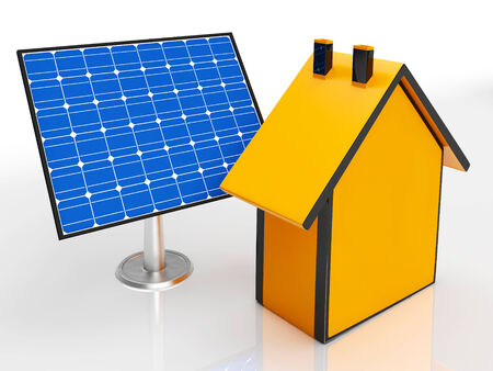 solarpanel: Solar Panel By House Shows Renewable Energy