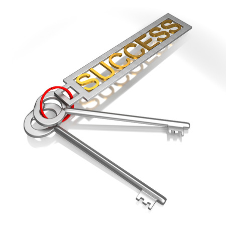 Success Keys Showing Victory Achievement Or Successful Stock Photo