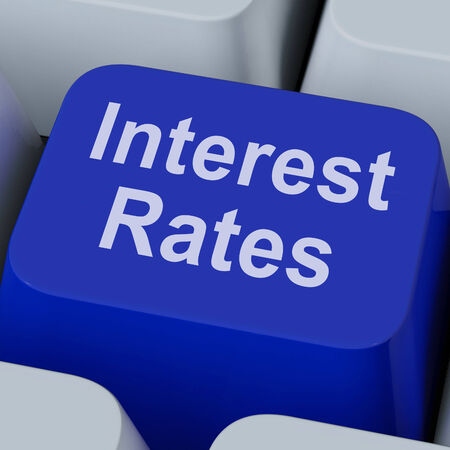 interest rate: Interest Rate Key Showing Investment Percent Online