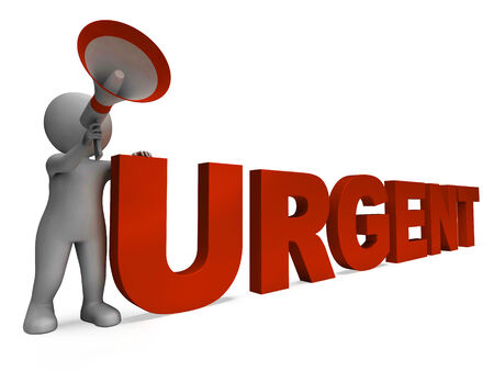 Urgent Character Showing Important Critical And Desperate Stock Photo - 26064306