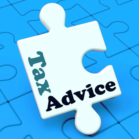 excise: Consulenza fiscale puzzle che mostra Fiscalit� Irs Aiuto