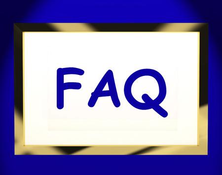chiesto: Faq On Screen Visualizzazione di assistenza o domande frequenti online