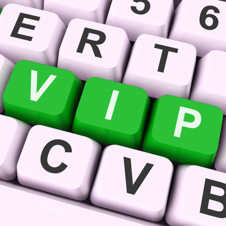 VIP Key Meaning Influential Or Very Important Person Stock Photo - 26064394