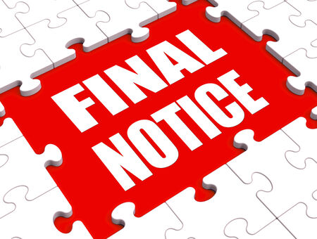 overdue: Final Notice Puzzle Showing Last Reminder Or Payment Overdue