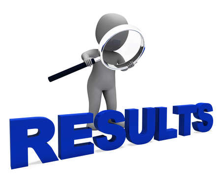 outcome: Results Character Showing Improvement Result Or Outcome