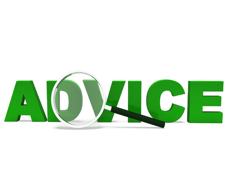 recommendations: Advice Word Meaning Advising Advise Recommend Or Advised Stock Photo