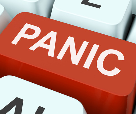 panicky: Panic Key Showing Panicky Terror Or Distress