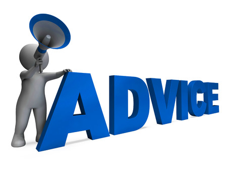 recommendations: Advice Character Meaning Guiding Councelling Recommending Or Suggest Stock Photo