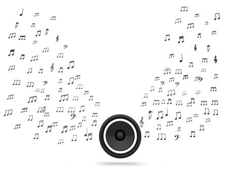 sono: Les notes de conf�rencier et de musique Affichage Music System Audio ou le son
