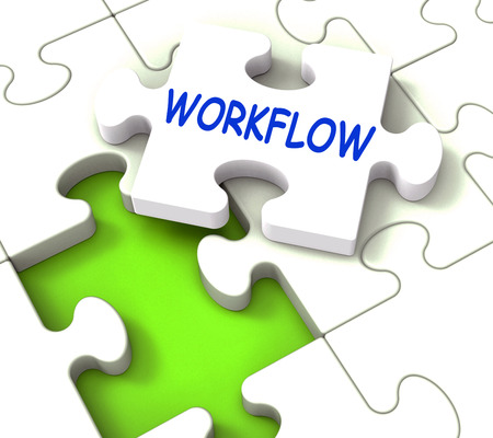 workflow: Workflow Puzzle Showing Structure Process Flow Or Procedure