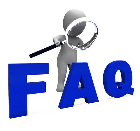 inquiries: Faq 3d Character Showing Assistance Inquiries Or Frequently Asked Questions