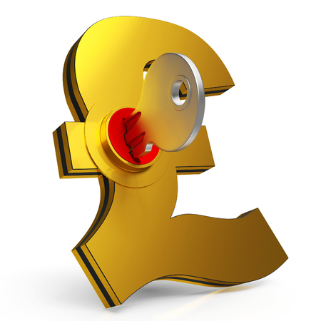 gbp: Gbp Key Shows Banking Savings And Finance Stock Photo
