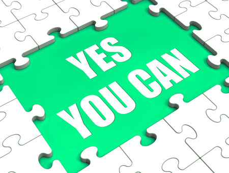 Yes You Can Puzzle Showing Inspiration Motivation And Achievement photo