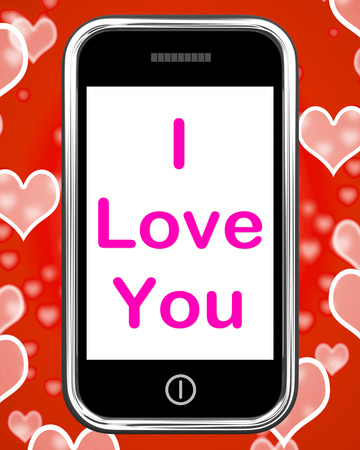 adore: I Love You On Phone Showing Adore Romance