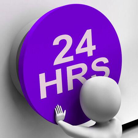 Twenty Four Hours Button Showing 24H Availability