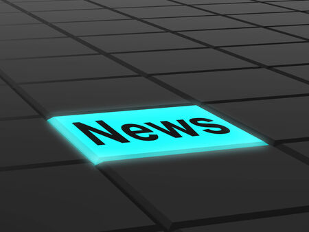 News Button Showing Newsletter Broadcast Online photo