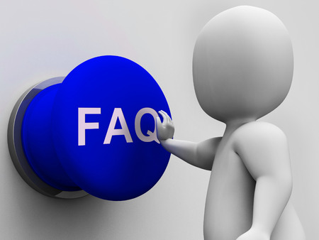 inquiries: FAQ Button Showing Website Questions And Assistance