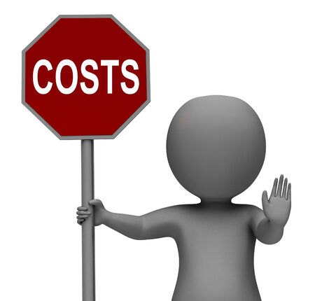 Costs Stop Sign Meaning Stopping Overhead Expenses Фото со стока - 26064783