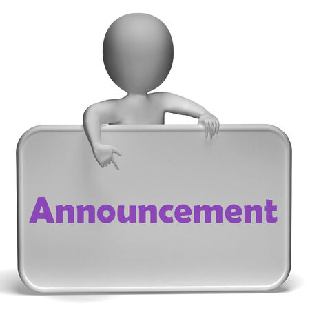 disclose: Announcement Sign Meaning Disclose Report Or State Stock Photo