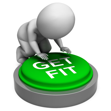 get a workout: Get Fit Button Meaning Training And Workout