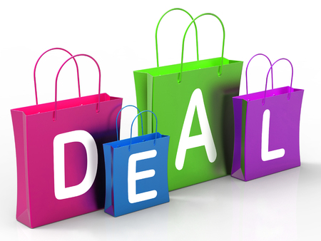 markdown: Deal On Shopping Bags Showing Bargains And Promotion