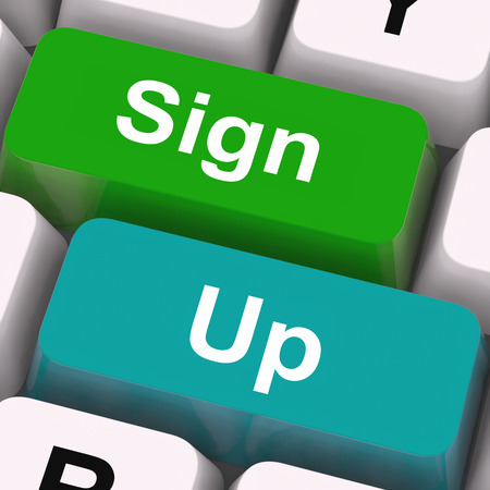 signup: Sign Up Keys Meaning Registration And Membership