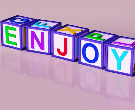 pleasing: Enjoy Blocks Showing Pleasant Relaxing And Pleasing