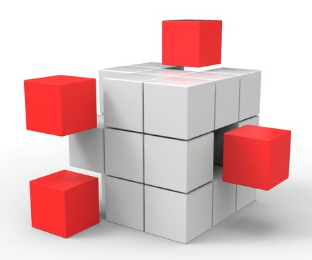 Incomplete Puzzle Showing Achievement Solving Or Completion Stock Photo