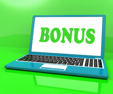 perk: Bonus On Laptop Showing Reward Benefit Or Perk Online