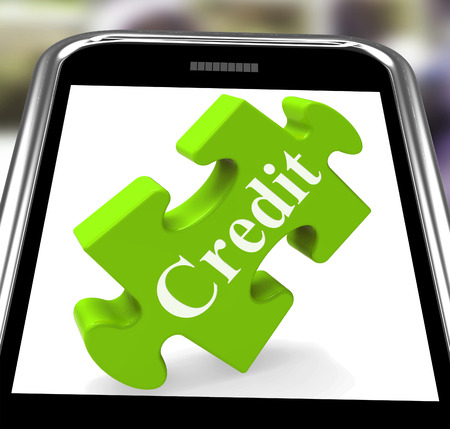 Credit Smartphone Showing Borrowing Cash Or Money Stock Photo - 26064979