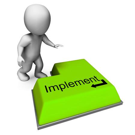 implement: Implementare pulsante Significato esecuzione o l'applicazione di Strategia