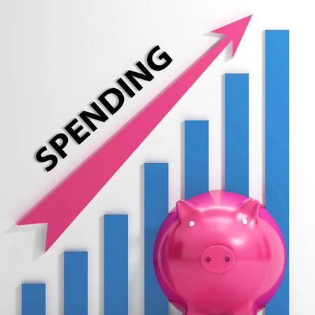 outgoings: Spending Graph Meaning Costs Expenses And Outlay