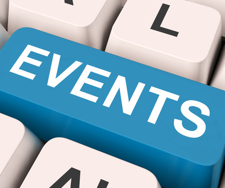 occurrence: Events Key On Keyboard Meaning Occurrence, Happening Or Incident  Stock Photo
