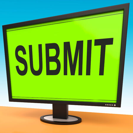 submitting: Submit Monitor Showing Submitting Submission Or Application