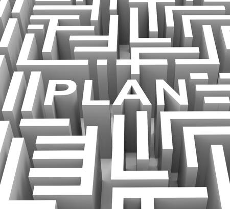 Plan de Word affiche Planning Guidance stratégie ou une entreprise Banque d'images - 26065088
