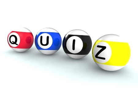 Quiz Word Shows Test Questionnaire Or Quizzing Standard-Bild
