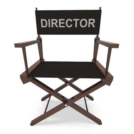 filmmaker: Directors Chair Showing Movie Producer Or Filmmaker