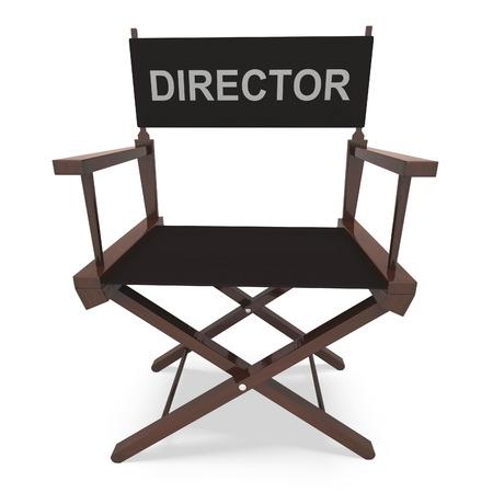 filmmaker: Directors Chair Showing Movie Producer Or Filmmaker