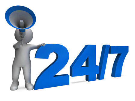 24x7: Twenty Four Seven Character Meaning All Week Or Seven Days