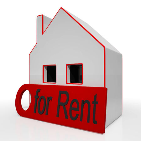 for rent sign: Home For Rent Sign Shows Housing Rental
