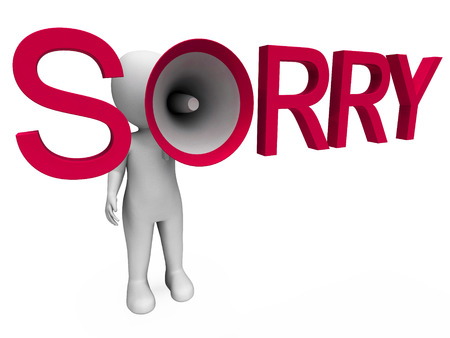 Sorry Hailer Showing Apology Apologize And Regret photo